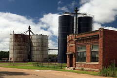 generic (oldogs) Tags: bank elevator bin grainstorage brickbuilding smalltown abandoned nebraska farmtown berwyn