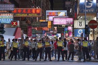 The last day of pedestrian schemes in Mongkok