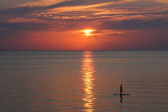 Contemplating the end of the day Lets be Instagram friends (Kathy~) Tags: lakemichigan michigan paddle board paddleboard sunset water scape landscape silhouette person fc 15challengeswinner perpetual