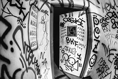 We Are Nowhere and It's Now (Thomas Hawk) Tags: america california cossonhall pezo sf sagehall sanfrancisco starburst ti treasureisland usa unitedstates unitedstatesofamerica abandoned barracks decay graffiti