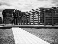 Leading line (weerwolfje) Tags: leading line utrecht bnw bw blackandwhite street streetphotography olympus omd 10 mark 2