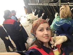 Студентки ветеринары (ShyShyny) Tags: фартук студентки доярка осеменатор гинекология перчатки резина клеенка apron students milkmaid inseminator rubber pvc gloves ветеринар veterinarian