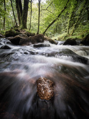 Golitha Falls (Timothy Gilbert) Tags: golithafalls ultrawide lumix laowacompactdreamer75mmf20 rocks microfournerds riverfowey water waterfall river m43 microfourthirds photowalk lovecornwall bodminmoor wideangle cornwall panasonic gx8