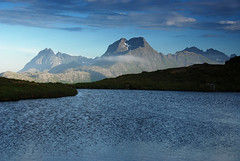 Narvtinden in light (DoctorMP) Tags: lofoten norway nordland moskenesoya summer mountains hiking outdoors evening clouds lake