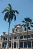 Iolani Palace (_Codename_) Tags: hawaii honolulu oahu iolanipalace palace palmtree crushedblacks flag