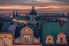 Sunset in the city (Vagelis Pikoulas) Tags: krakow poland sun sunset architecture colors colours view landscape canon city cityscape urban polish europe travel 2017 tamron