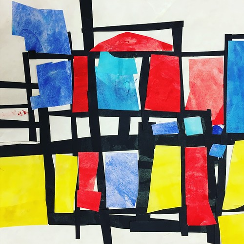 """Every year I get new favorites with this #kindergarten #pietmondrian  inspired painted paper gridded #collage ❤️❤️  They have such an amazing lyricism at this age that I admire so much. Want em all! • <a style=""""font-size:0.8em;"""" href=""""http://www.flickr.com/photos/57802765@N07/42086984250/"""" target=""""_blank"""">View on Flickr</a>"""