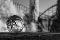 Troy, Toverland II (Jay Peck) Tags: troy toverland netherlands rollercoaster coaster wodie woodie gci infrared infrarot infraredphotography infrarot830 infrarotfotografie freizeitparkwelt freizeitpark themepark pretpark galskugel glasball ball glass upside down upsidedown sony a6000 carl zeiss distagon 28 contax yashica