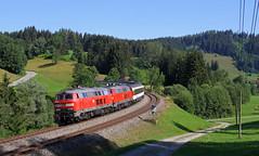 Urlaub im Allgäu Teil 8 (Klaus Z.) Tags: eisenbahn kbs 970 allgäu allgäubahn eurocity ec 191 br 218 db fernverkehr personenzug