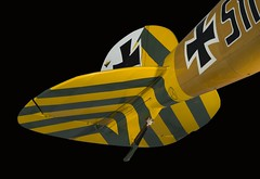 Albotros D.Va Rudder and Vertical Stabilizer (Smithsonian National Air and Space Museum) Tags: aviation german aircraft albotros dvaaviationgerman wwi worldwari airandspacephoto nationalairandspacemuseum military