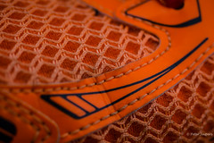 The tragedy of life doesn't lie in not reaching your goal, the tragedy lies in having no goal to reach (Peter Jaspers) Tags: frompeterj© 2018 olympus omd em10 1240mm28 mesh macro macromondays orange asics gt2000 runningshoe home