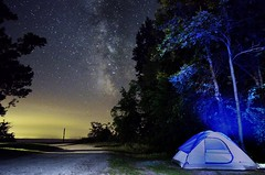 Under the heaven (niladree1710) Tags: presquilepointprovincialpark provincialpark park camping camp tent star starry milkyway colors light shadow