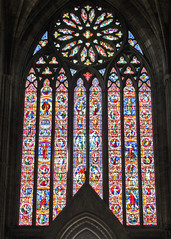 Worcester Cathedral (Tudor Barlow) Tags: worcester worcestercathedral england cathedrals listedbuilding gradeilistedbuilding nave summer canonpowershotsx620hs hardman westwindow stainedglass
