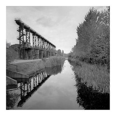 industrial romantic (rcfed) Tags: hasselblad mediumformat film tanol development industrial romantic cloud water reflection monochrome tree