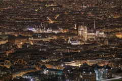 Paris! (karinavera) Tags: city longexposure night photography cityscape urban ilcea7m2 sunset france paris aerial