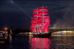 Алые паруса мечты. Scarlet Sails of Dreams (atardecer2018) Tags: санктпетербург лето нева russia river reflection sanpetersburgo summer neva night