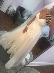 beaded lace wedding gown with detachable over skirt from Darius Bridal (Darius Cordell) Tags: dariuscordell wedding dresses bridal gowns fashion designers white weddingdresses bridalgowns weddinggowns bridaldresses fashiondesigners designerdresses designerweddingdresses