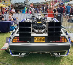 Famous Cars Of The Movies. Paignton Green. (christianiani) Tags: delorean dmc movies film famous cars backtothefuture rear back behind