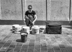 Make Some Noise (dlsmith) Tags: drummer streetperformer england leeds streetphotography streetmusician musician street monochromatic monochrome blackwhite blackandwhite