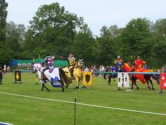 DSCF3843 (SierPinskiA) Tags: ruffordabbeycountrypark rufford knightsofnottingham fujixs1 jousting medieval horse knights goldeneagle falcon