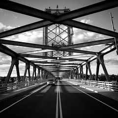 Bridge (Michael Beresin) Tags: michaelberesin shotoniphone iphone iphoneography architecture blackandwhite bridge