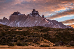 Sunrise at the Paine Grande Camping, Torres del Paine (Piotr_PopUp) Tags: cuernos painegrande torresdelpaine camping refugio refuge sunrise sun morning cloud clouds cloudy sky pink orange landscape nature mountain mountains patagonia chile ultimaesperanza latinamerica southamerica