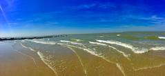 Oostende in Belgien (Monika Bauer) Tags: belgien meer ozean himmel sky strand wasser wellen sand