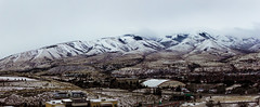 Panorama of Pocatello (Joshuaww) Tags: green mountains idaho pocatello snow clouds city small holtarena pocatelloidaho chubbuck bannock 83201 blue frost frosty snowy hazy fog foggy quaint warm cold ice icy pano panorama wide wideangle joshua joshuaww photography