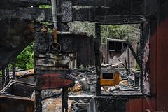 Culprit (TdotShutterSpy) Tags: burn burnt ashes fire cabin abandoned destroyed shutter spy woods urbex ontario canada shutterspy