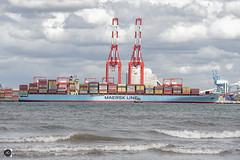 Maersk Sentosa (alundisleyimages@gmail.com) Tags: maersk containers ship shipping cargo goods imports exports liverpool2containerterminal rivermersey liverpool england uk cranes waves tide weather clouds ports harbours maritime tugs svitzer industriallandscape nikon sigma photography