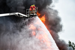 Commercial building fire Ardwick (Fire_Photos) Tags: fire firefighter firedrone gmfrs safety manchesterfire gmp police ambulance hart blaze ardwick unmarked airunit