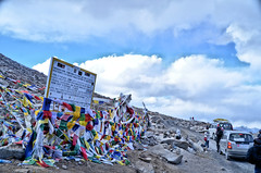 Ladakh - Crossing the High Pass (pallab seth) Tags: landscape autumn fall nature colour highpass highway kashmir india ladakh nubravalley valley jammukashmir color mountains himalayas pangongtso prayerflags