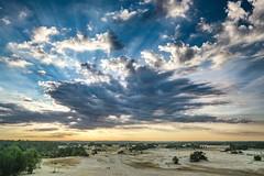 Kootwijkerzand (thijs.coppus) Tags: woestijn vlakte trees sun zon zonsopkomst sunrise clouds wolken sky nature natuur sand stuifzand zand niederlande netherlands holland nederland veluwe gelderland kootwijkerzand kootwijk