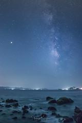 Mars with the Milky Way (tetsuyakatayama) Tags: milkyway star starlight mars sky sea seascape night nightscape nightview longexposure nature nagasaki japan iojima