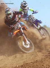 Bit of MX in the dust. (welloutafocus) Tags: mx dust ktm racing