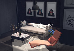 Post 096 Loft (Hypnotic Fashion Blog) Tags: alsoknownas tmcreation hextraordinary lisp chicchica blackbantam revival furniture secondlife sl blog blogger style loft daybed table frames