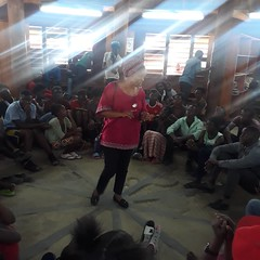 Ms. Mulenga Kapwepwe encourages girls to work hard in school (Lubuto Library Partners) Tags: library lubuto zambia africa children youth mentoring dreams mulengakapwepwe girls lubutolibraries lubutolibrarypartners publiclibraries ovcy