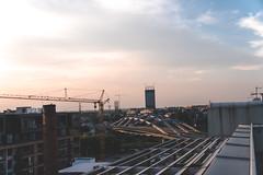 The Roof (Evil Prophet) Tags: sunset cracow hdr crane bridge clouds sky sun