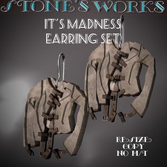 It's Madness Earring Set Stone's Works (darkstoneaeon2) Tags: stonesworks secondlife jewelry avatar fashion earring madness lovecraft fantasy