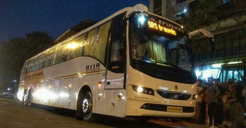 Srs Travels Multi Axle Volvo B11r Semi Sleeper Bus Surat A