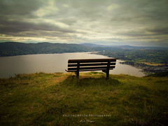 000004 (Kyle TKT) Tags: view skyline chair mountains alone ponder thought trees hillside ireland northernireland carlingfordlough rostrevor bench seat