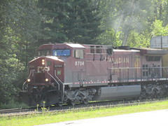 Chugging (jamica1) Tags: cp canadian pacific railway railroad train locomotive revelstoke bc british columbia canada