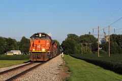 BLE 906 Take 3 (CC 8039) Tags: ble cn ic trains sd45t2 sd70m2 latham illinois sunset golden light