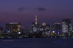 Tokyo Bay (pappa_Neo) Tags: sunset canon nikon 1424 105mm landscape urban architecture cityscape city skyline skyscrapers buildings high tall day night blue shot camera soe tourism travel river boat panorama pano gigapan giga mountains nature japan nagano tateyama matsumoto odaiba pappaneo