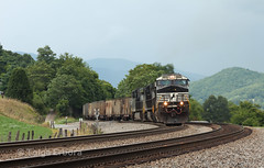 Lambert's Point Empties (TolgaEastCoast) Tags: ns norfolk southern shawsville virginia roanoke christiansburg train trains railfan sd70ace c449w coal lamberts point hoppers