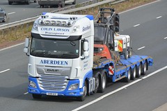 SV18 GCZ (panmanstan) Tags: daf xf wagon truck lorry commercial stepframe freight transport haulage vehicle a1m fairburn yorkshire