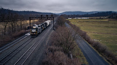Flying at Barree, PA (benpsut) Tags: barree dji djiphantom4pro drone ns ns5636 nsc42 nspittsburghline norfolksouthern prr prrlights pt211 pennsy pennsylights phantom phantom4pro aerial aerialphotography dronephotography local railroad trains