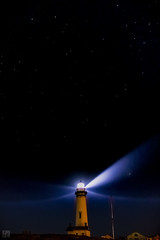 Starry Night - Pigeon Point Lighthouse (lycheng99) Tags: starrynight star night nightphotography longexposure pigeonpointlighthouse lights lightbeam house tower sky dark darkness stars