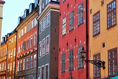 Stortorget (Douguerreotype) Tags: sverige red orange sweden buildings stockholm green yellow window city architecture urban historic