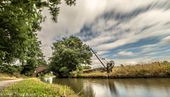 Bridgewater Canal, Daresbury (joanjbberry) Tags: daresbury bridgewatercanal slowshutter fujifilmxt2 fujifilm landscape water canal clouds canalbank